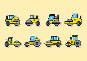 Cute Road Roller Icons