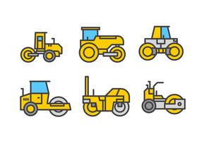 Steamroller Linear Vector Icon pack