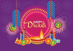 Fire Cracker for Happy DiwaliVector