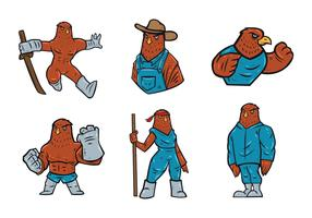Falcons Mascot Vector