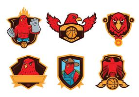 Falcon Badge Mascot Vector