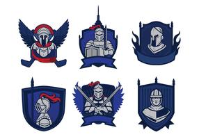Knights Badge Mascot Vector