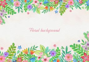 Free Vector Watercolor Floral Card