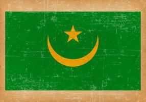 Grunge Flag of Mauritania