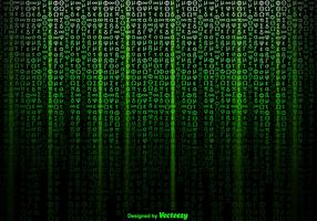 Vector Green Symbols Background In Matrix Style