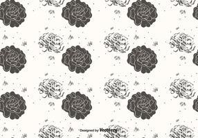 Hand Drawn Flower Pattern Vector