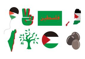 Free Palestine Icons Vector