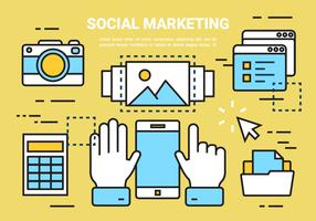 Free Linear Social Marketing Elements