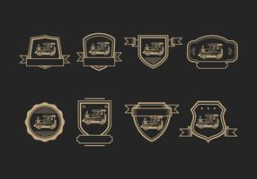 Caboose Badges Logo Vector