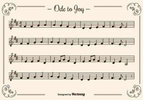 Ode to Joy Vector Background