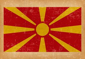 Grunge Flag of Macedonia