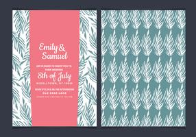 Tropical Vector Wedding Invitation