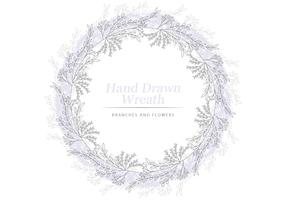 Vector Delicate Floral Wreath