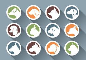 Icono de la cara del lado del perro