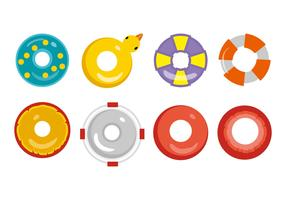 Free Swim Ring Inner Tube Icons Vector