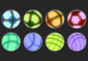 Set Of Bocce Ball Vectors