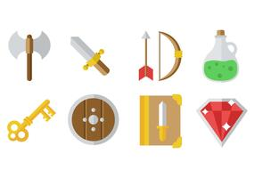 Free RPG Game Icons Vector
