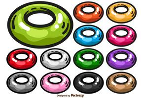 Colorful Vector Set Of Inner Tube Icon