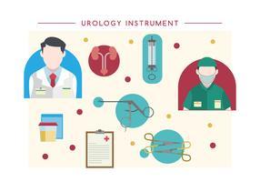 Vector libre del instrumento de la urología