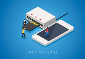 Card Reader Isometric Free Vector