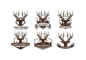 Caribou Logos Free Vector