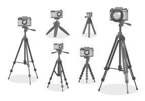 Camera Tripod Vector Flat Design style