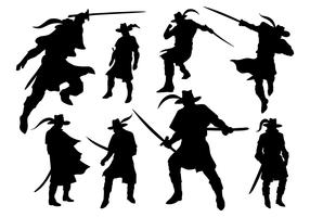 Musketeer Silhouette Vector