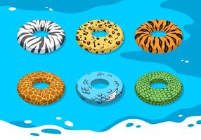 Animal Texture Innertube Free Vector