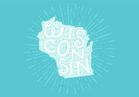 Wisconsin state lettering