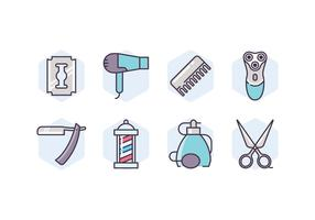 Barbershop Supplies Icon Set
