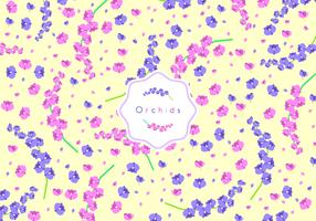Orchids Disty Pattern Free Vector