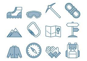 Climbing Icons Set