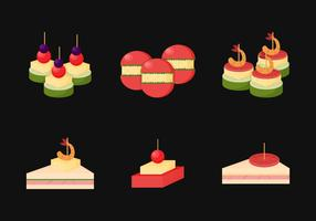 Flat Appetizers Vector Collection