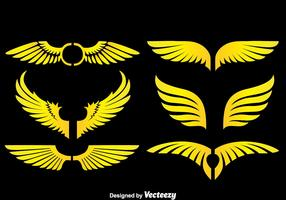 Angle Wings On Black Vectors
