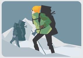 Alpinist Walking Vector
