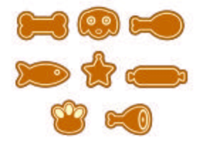 Set Of Dog Biscuit Icons