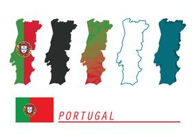Portugal Maps Vector Set