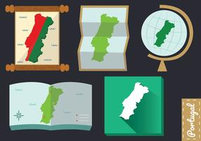 Portugal Map Vector Pack