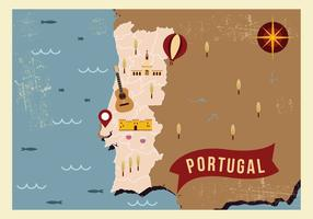 Portugal Map Illustration Vector
