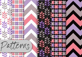 Soft Purple Pattern Set