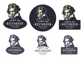 Beethoven Vintage Emblem Logo