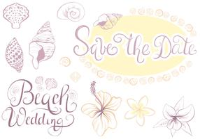 Free Beach Wedding 2 Vectors