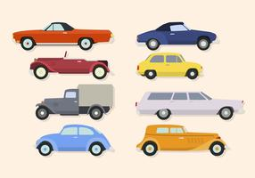Flat Classic Car Vectors