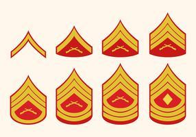 Flat Marine Corps Rank Vectors