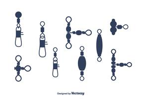 Fishing Tackle Vector Set