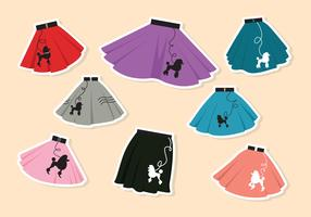 Colorful Poodle Skirt Vector
