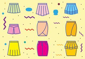 Retro Skirt Icons
