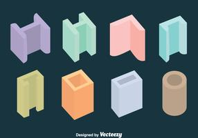Colorful Steel Girder Collection Vector