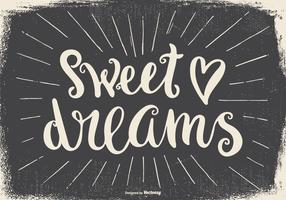 Sweet Dreams Typographic Illustration