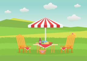 Lawn Chair on Grass Vector